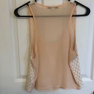 Forever 21 Tops - Pastel pink lace crop top